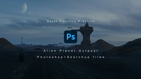 PSD file for Alien Planet Outpost