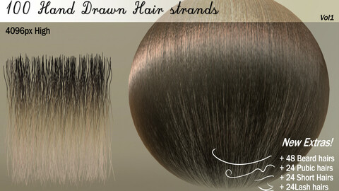 100 Hair Strands + Extras!