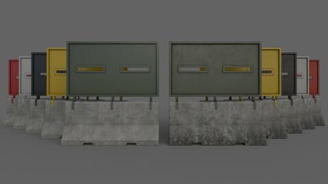 PBR Concrete Roadblock Barrier V1