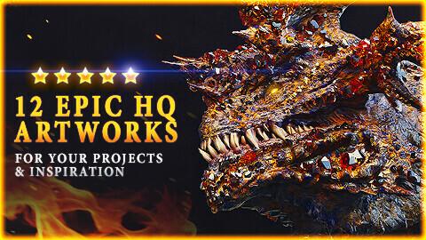 DRAGONS: 12 EPIC HQ ARTWORKS IN 4K-6K