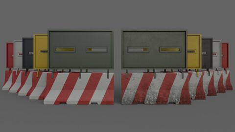 PBR Concrete Roadblock Barrier V3