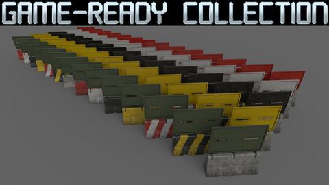 PBR Concrete Roadblock Barrier - Collection