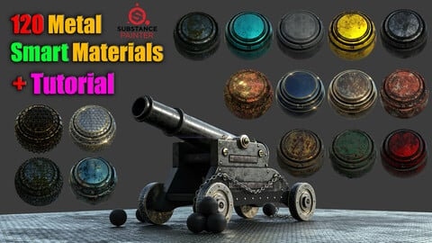 120 Metal Smart Materials + Tutorial