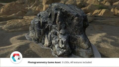 Beach Rock: Photogrammetry Game Asset