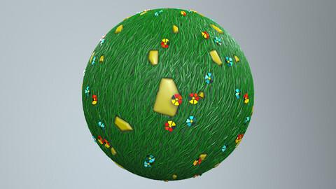 Stylized grass smart material