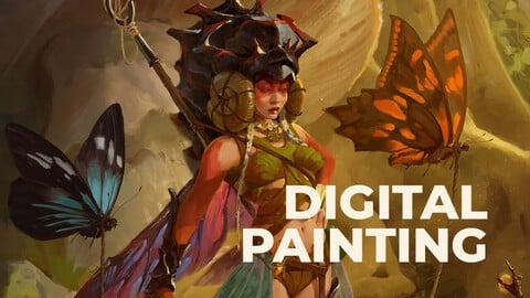 Fairy digital painting Process