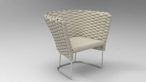 Paola Lenti Ami Chair Oyster bay