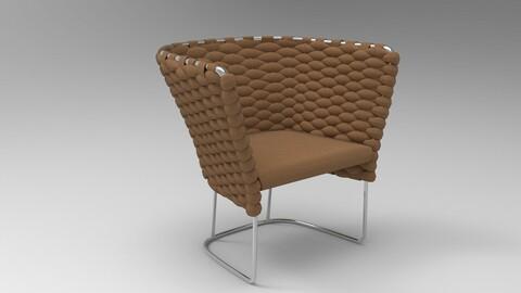 Paola Lenti Ami Chair Pecan brown