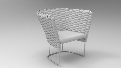 Paola Lenti Ami Chair White