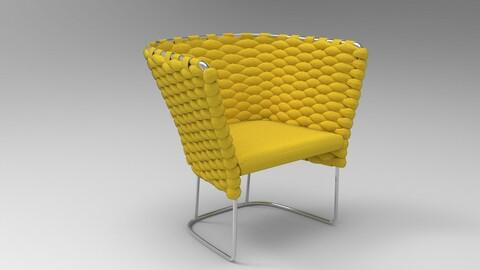 Paola Lenti Ami Chair Yellow Oxide