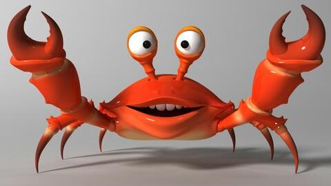 Cartoon Crab RIGGED and ANIMATED