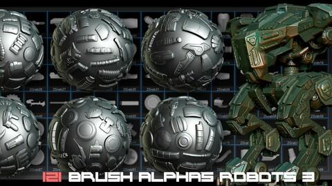 121 Brush Alphas Robots 3