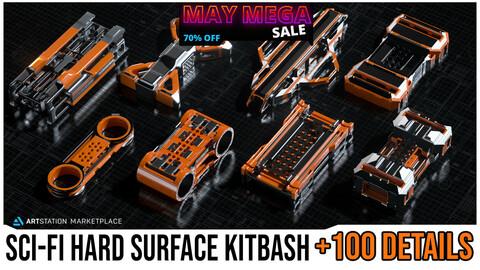 Sci-Fi Hard Surface KITBASH BUNDLE +100 DETAILS