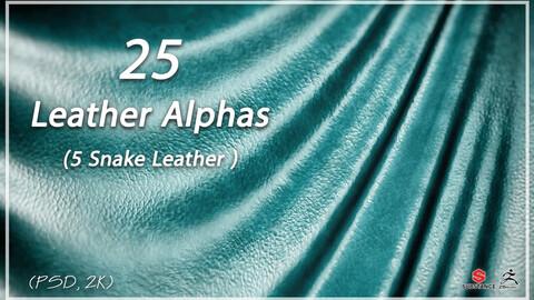 25 Leather Alphas vol.1 ( 5 Snake Leather ) ( 2k )