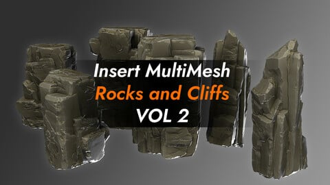 Zbrush Insert MultiMesh Rocks and Cliffs VOL 2