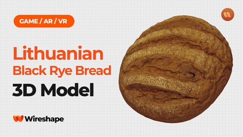 Lithuanian Black Rye Bread - Real-Time 3D Scanned