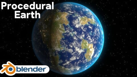 Completely Procedural Earth (Blender)