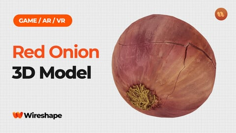 Red Onion - Real-Time 3D Scanned