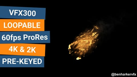 VFX300 - Loopable Fire VFX Asset