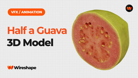 Half a Guava - Extreme Definition 3D Scanned