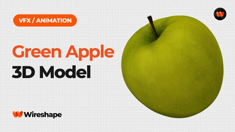 Green Apple - Extreme Definition 3D Scanned