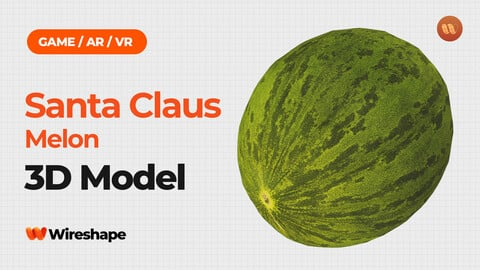 Santa Claus Melon - Real-Time 3D Scanned