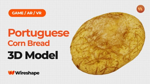 Portuguese Corn Bread - Real-Time 3D Scanned