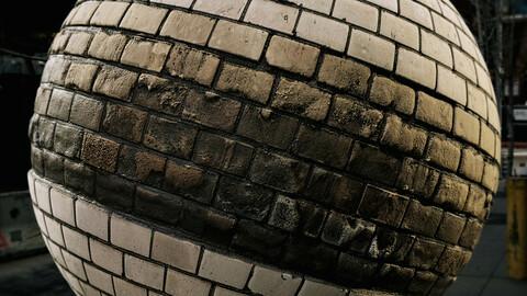 PBR - BRACK WALL, FLOODS, WEATHERED, CRACKS, BROKEN - 4K MATERIAL