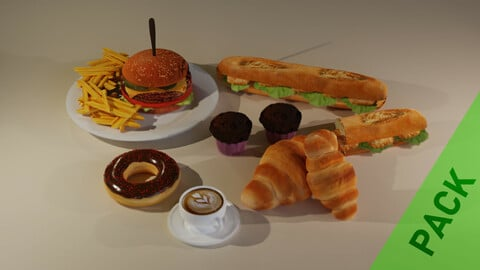 3D Breakfast Pack with Lunch
