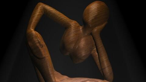 African Statue 3D model