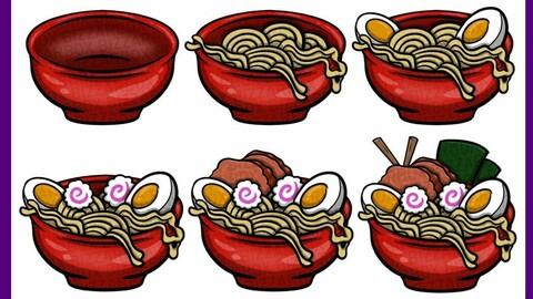 Twitch Sub Badges: Ramen Noodles