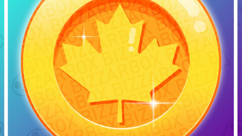 Twitch Channel Point Emote: Maple Leaf Coin