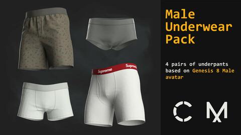 Male underwear pack. MD / CLO 3D .zprj (Genesis 8 avatar)