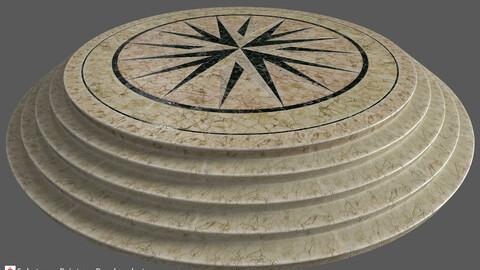 Round shape  marble Platform