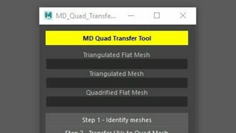 Marvelous Designer and Maya Quad Mesh/UV Transfer Tool