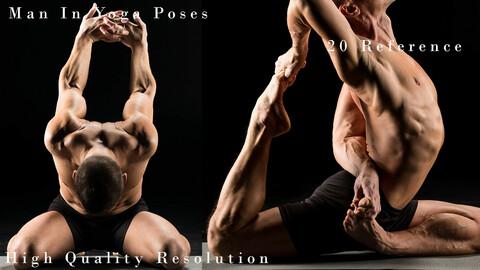 Man In Yoga Poses