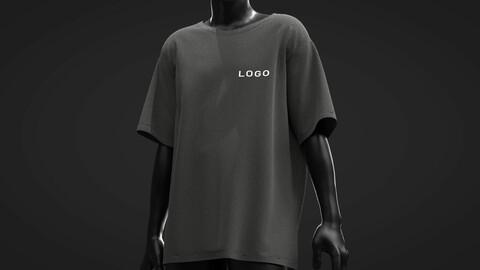Male Tshirt . Marvemous Designer , Clo3D