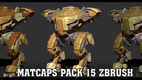 Matcaps pack 15 Zbrush