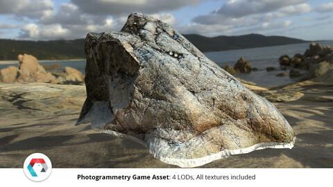 Large Rock Formation: Photogrammetry Game Asset
