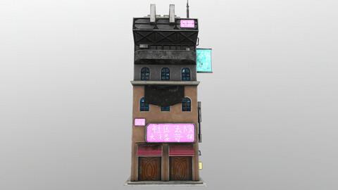Cyberpunk Building 8 3D Model
