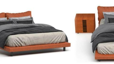 Upholstered Headboard Sedbed Vray