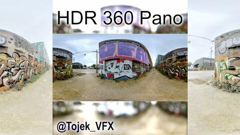 HDR 360 Panorama Small Alley DTLA Graffiti set 65 (Set pano 1 of 3)