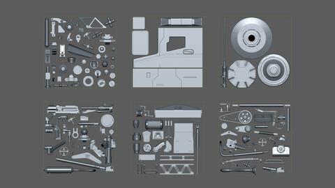 Sci-Fi Hard Surface \ DETAILS  120+