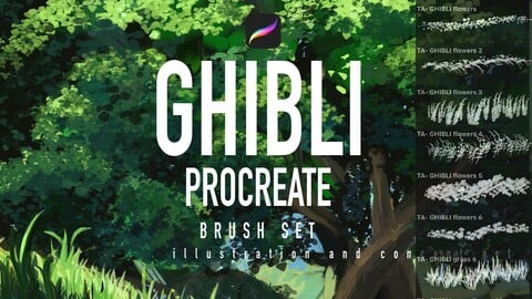 30 Ghibli Procreate brushes