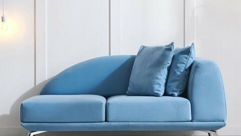 Kelen Aqua 2-seat sofa