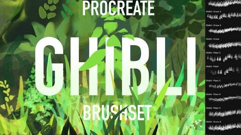 31 Ghibli Procreate brush set