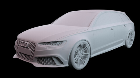Audi RS6 (3D model base)