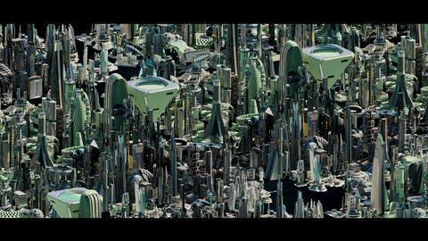Stylized Futuristic Buildings_all volumes_