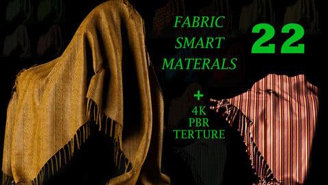 22 High Quality fabric Smart Materials Bundle + 4K PBR Texture_VOL.2