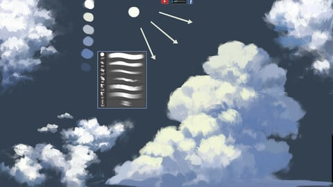 Cloud Brush [ 20+] : My Brush Painting  Game | Anime | Real Style | Video Tutorial.